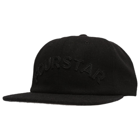 Fourstar Arched Applique Unstructured Strapback Hat
