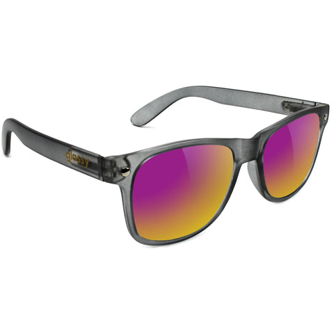 "GLASSY ""Leonard"" Sunglasses (Dark Grey/ Purple Mirror)"
