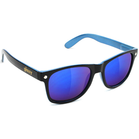 "GLASSY ""Leonard"" Sunglasses (Black / Blue / Blue Mirror)"
