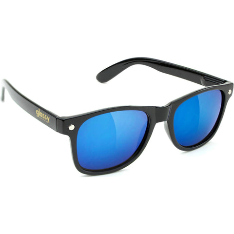 "GLASSY ""Leonard"" Sunglasses (Black / Blue Mirror)"