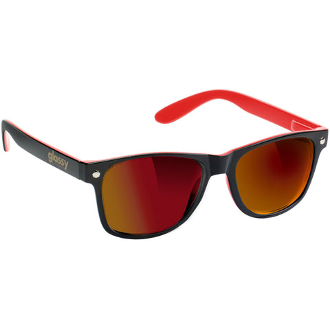 "GLASSY ""Leonard"" Sunglasses (Black / Red / Red Mirror)"