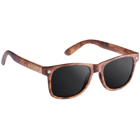 "GLASSY ""Leonard"" Sunglasses (Wood)"