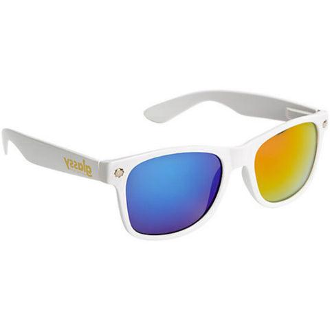 "GLASSY ""Leonard"" Sunglasses (White / Color Mirror)"