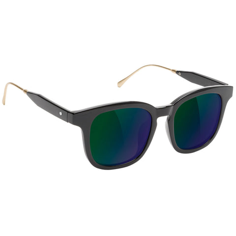"GLASSY ""Royal"" Sunglasses (Black / Green Mirror)"