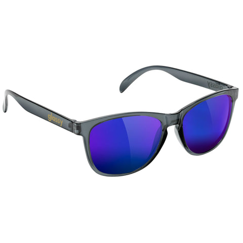 "GLASSY ""Deric"" Sunglasses (Clear Grey / Blue Mirror)"