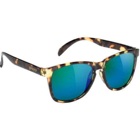 "GLASSY ""Deric"" Sunglasses (Tortoise / Green Mirror)"