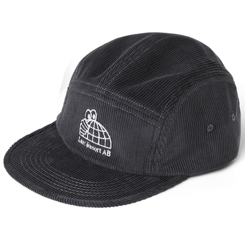 Last Resort AB Half Globe Cord 5-Panel Hat (Grey)