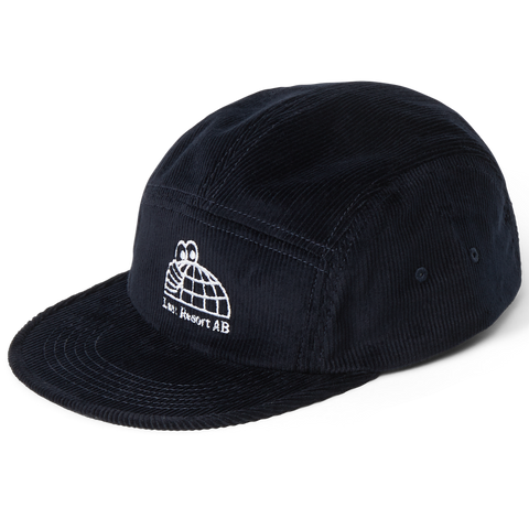 Last Resort AB Half Globe Cord 5-Panel Hat (Black)