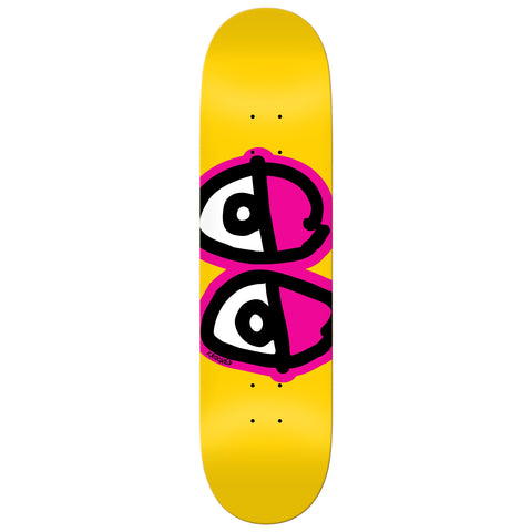 "Krooked Team Eyes Deck 8.25"" (Yellow)"