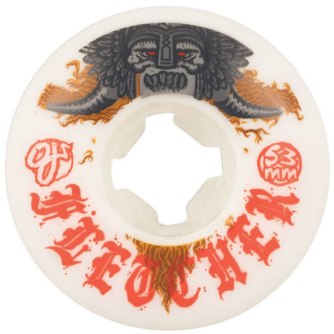 OJ Fletcher Viking EZ Edge Insaneathane Wheels (White): 53mm / 101A