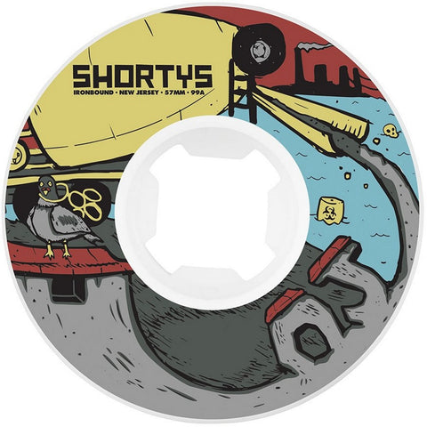 OJ Shortys DIY EZ Edge Insaneathane Wheels (White): 57mm / 101A