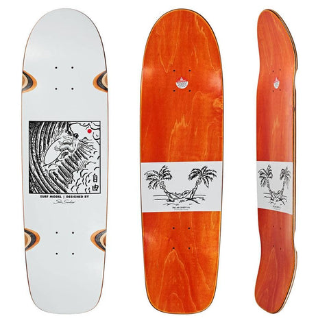 Polar Skate Co Shin Sanbongi Freedom Surf Shape Deck (White) 8.75""