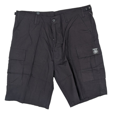 Energy Cargo Ripstop Shorts (Black)