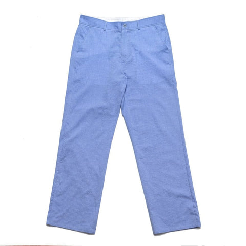 Chrystie NYC Seersucker Pants Cornflower Blue - Medium