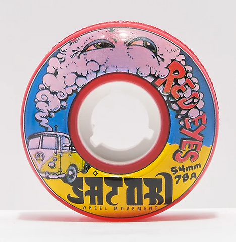 Satori Red Eyes Cruiser 54mm 78A Wheels (Red)