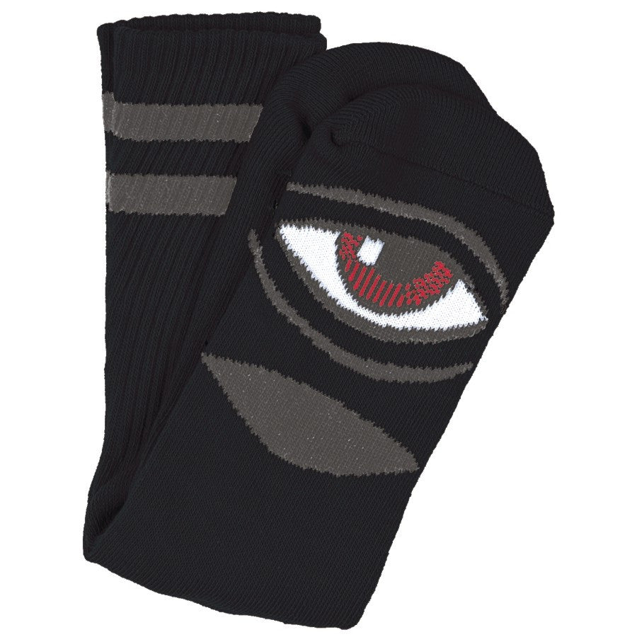 "TOY MACHINE ""Sect Eye"" Crew Socks (Black)"