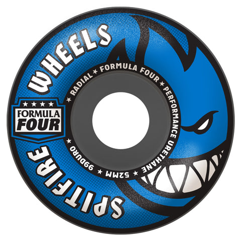 Spitfire Formula Four 52mm 99A Radial Wheels (Grey)
