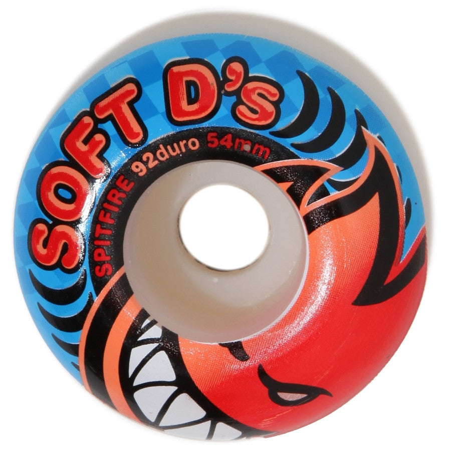 "SPITFIRE ""Soft D's"" Wheels: 52mm / 92A"