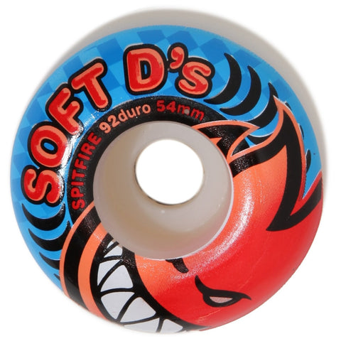 "SPITFIRE ""Soft D's"" Wheels: 54mm / 92A"
