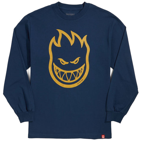 Spitfire Bighead Long Sleeve (Harbor Blue/Gold)