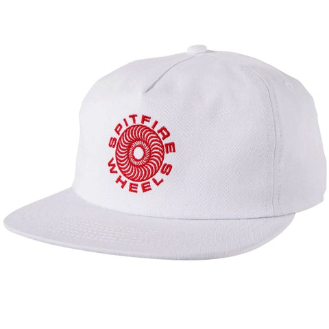 Spitfire Classic Swirl Snapback Hat (White/Red)