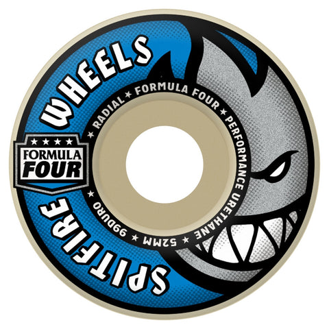 SPITFIRE Formula Four Radial Wheels: 52mm / 99A