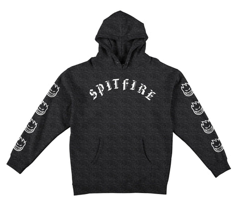Spitfire Old E Bighead Hooded Pullover Sweatshirt (Charcoal Heather)