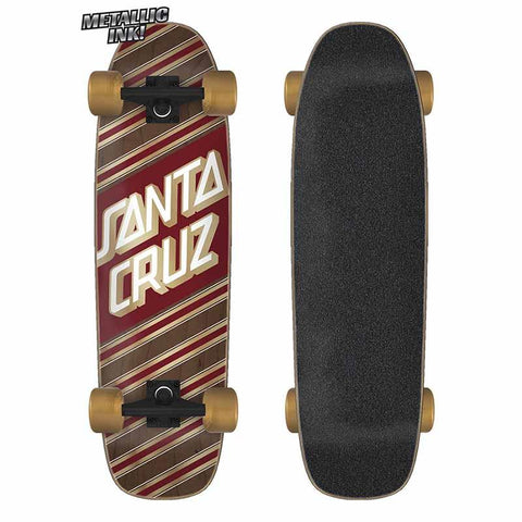 Santa Cruz Street Skate 8.4 x 29.4 Cruzer Complete (Brown / Red)