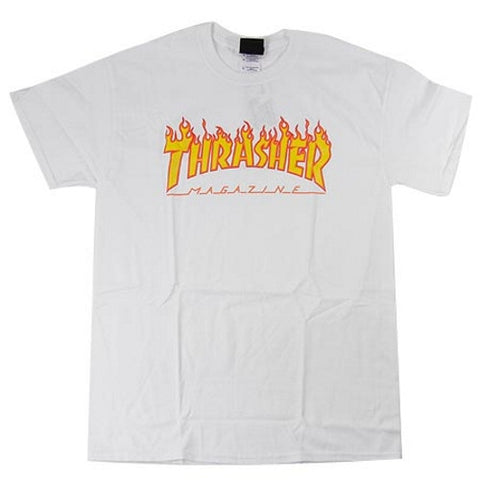 Thrasher Flame Logo T-Shirt (White)