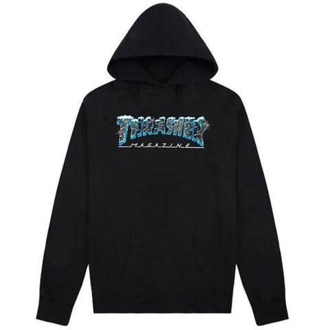 Thrasher Ice Hooded Sweatshirt (Black)