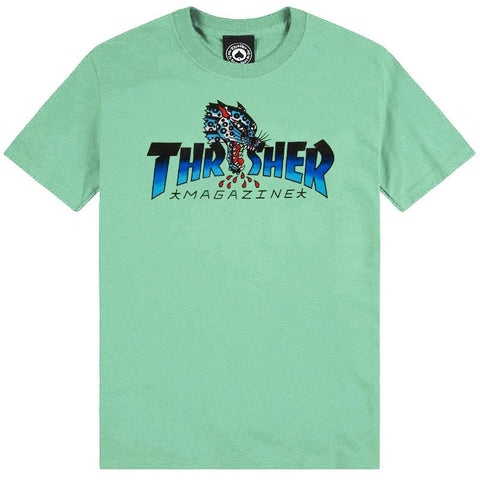Thrasher Leopard Mag T-Shirt (Mint)