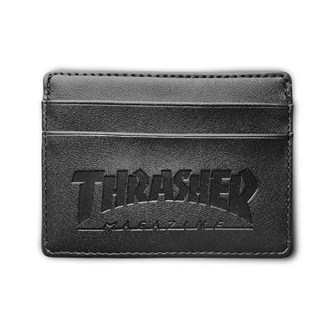 Thrasher Mag Leather Card Wallet Black