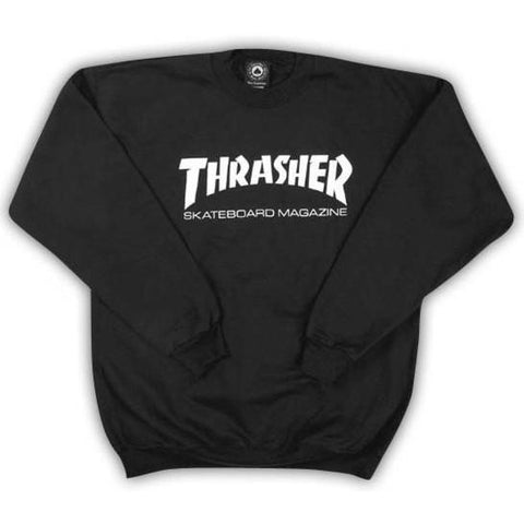 Thrasher Mag Logo Crew Neck Sweatshirt (Black)