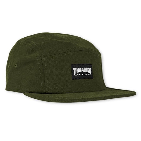Thrasher Skate Mag 5-Panel Hat (Army)