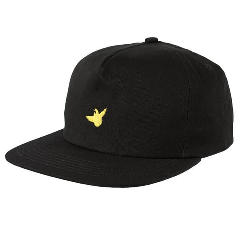 Krooked OG Bird Snapback Hat (Black/Yellow)