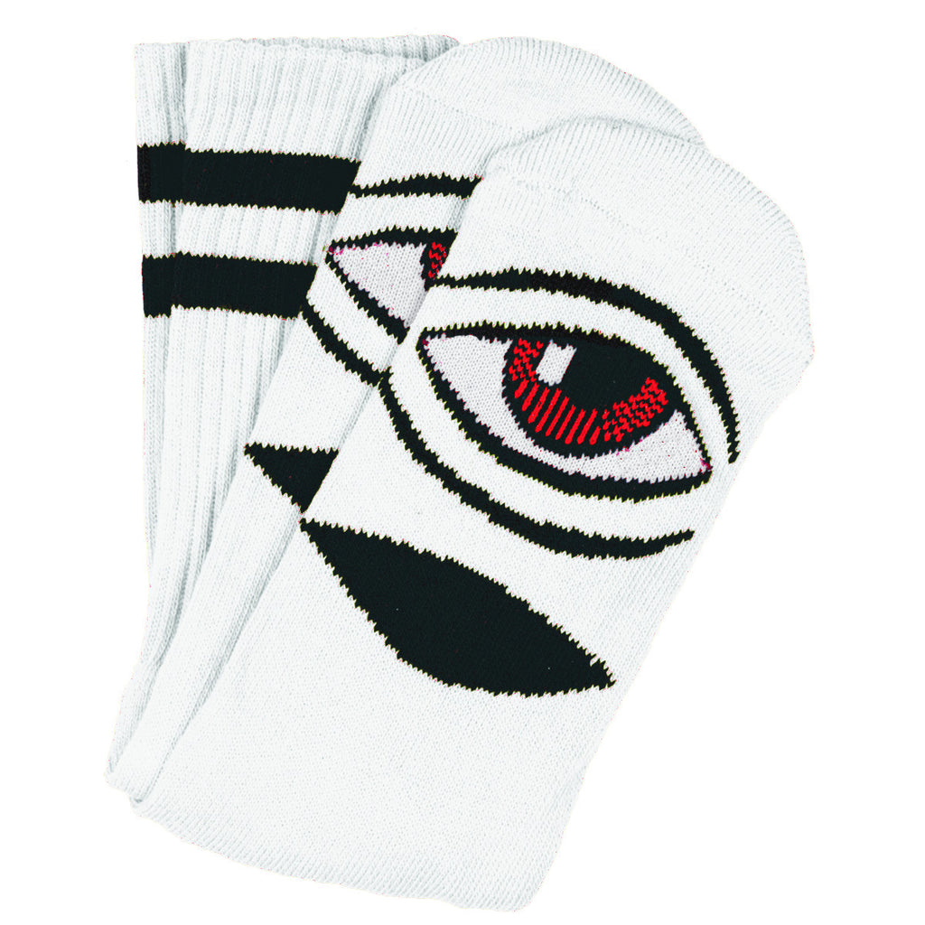 "TOY MACHINE ""Sect Eye"" Crew Socks (White)"