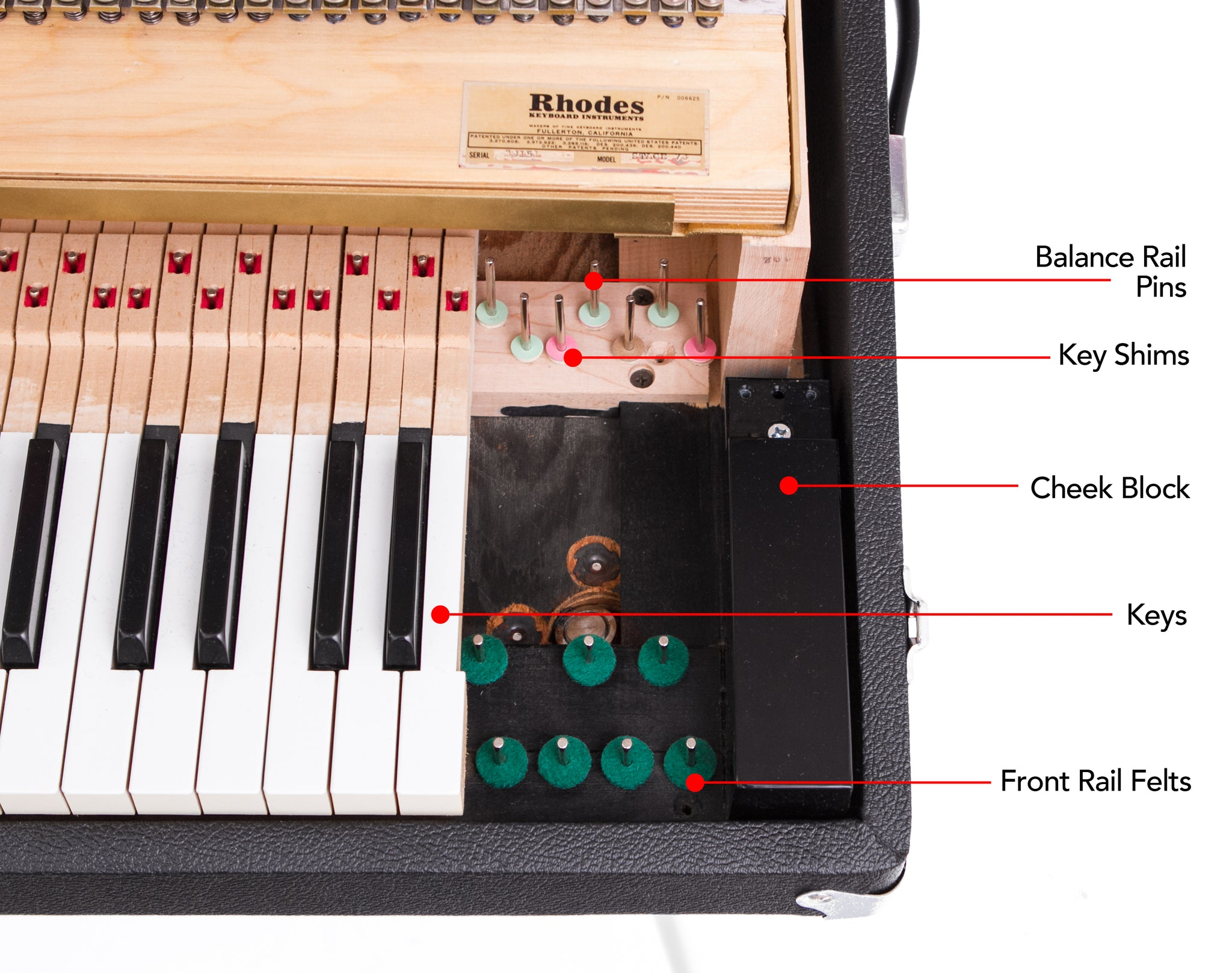 Fender rhodes piano diagram vintage vibe no matter what condition you find an old fender rhodes in you can restore it to new condition with vintage vibe parts pooptronica