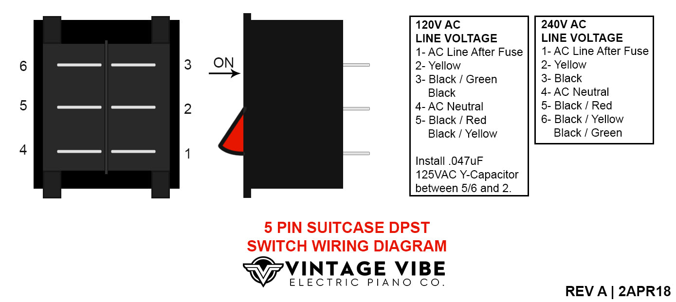 5 pin 100w amp power switch wiring diagram