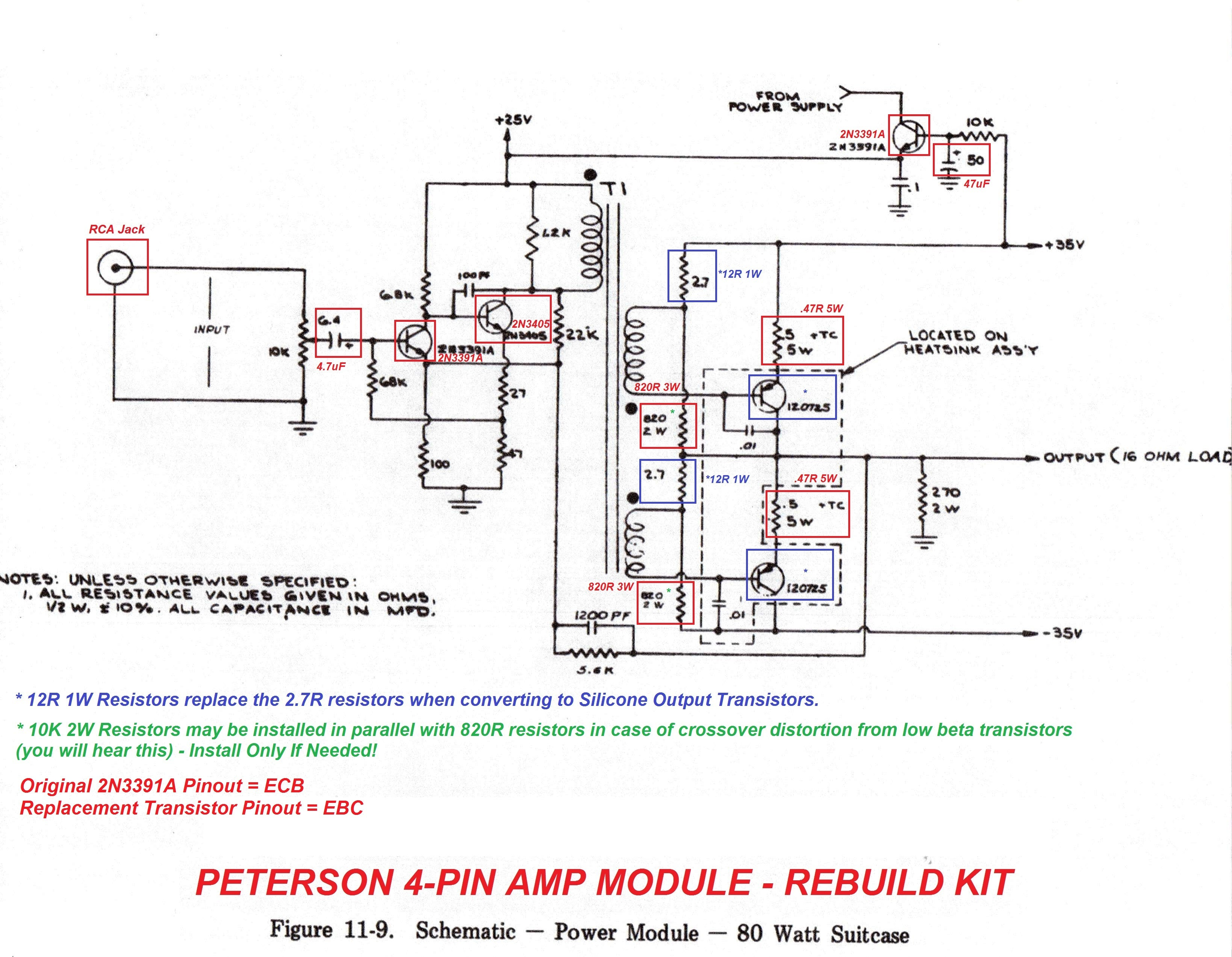 Antique Radio Forums View Topic Not Quite A Rhodes Piano Peterson 7 Way Wiring Diagram Amp Module Schematic Annotated By Vintage Vibe For Their Rebuild Kit