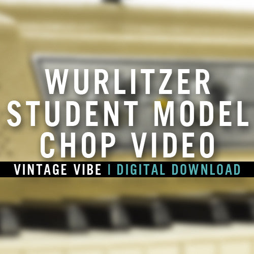 Instructional Videos - Wurlitzer Student Model Chop Video