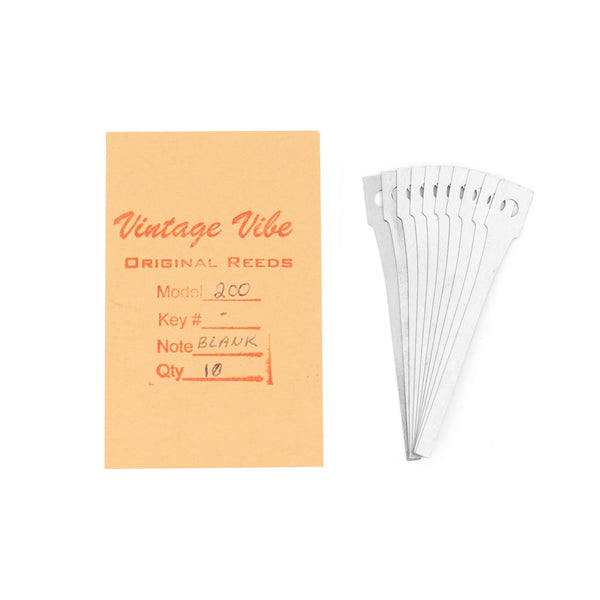 Wurlitzer E.P. Parts - Wurlitzer 200 Series Reed Blanks