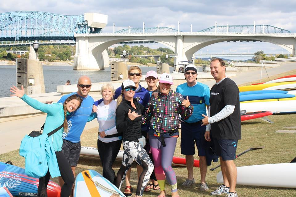 My journey to the Chattajack 31 Mile SUP Race Rachelle Price Group Shot KM Hawaii