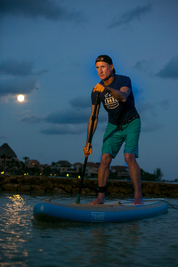 Tony Schaefer, From the Saddle to the Paddle Paddling the Tahoe Alpine Explorer in the Moonlight