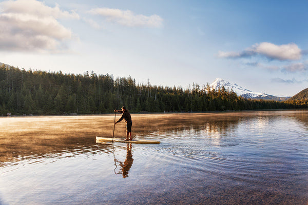 Ronnie Ayres Paddle Boarding on Lost Lake