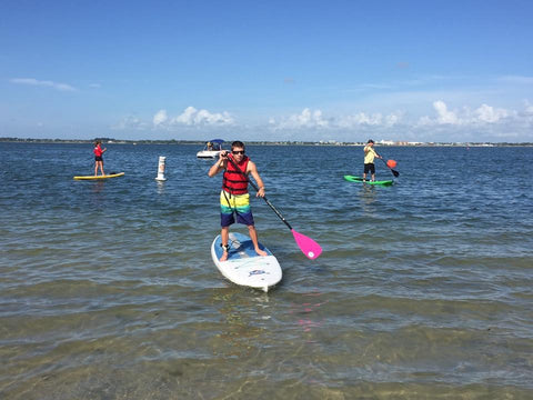 Working with Special Olympics paddle boarders SUP outdoor and surfers in Vero Beach FL with Tim Capra - 2
