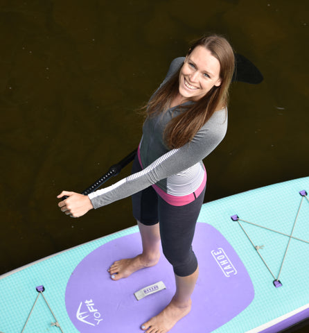 Yoga is the journey of the self through the self to the self Bhagavad Gita Courtney Bruce Tahoe SUP Yofit looking up