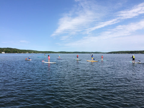 Kwin Morris Ambassador LXV outdoor tahoe tallac sup paddle Michigan education paddleboard kids on the water
