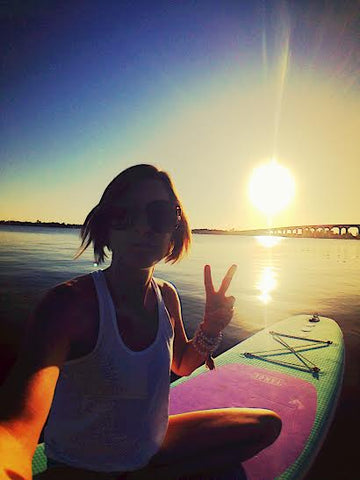 Summer Solstice Sunset SUP Yoga Nicole Capra Peace Tahoe SUP