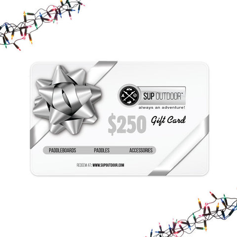 SUP Outdoor USD $250 Gift Card
