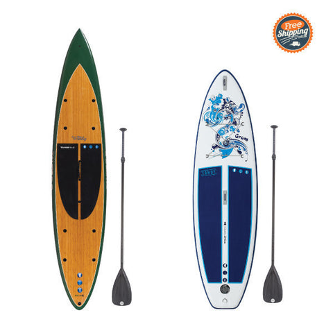 Tahoe SUP Woody and iSUP Grom Kids Package on Sale for $1,499 - Use Code WOOD22 - Regularly -  - Stand Up Paddle Board - SUP Outdoor - 1